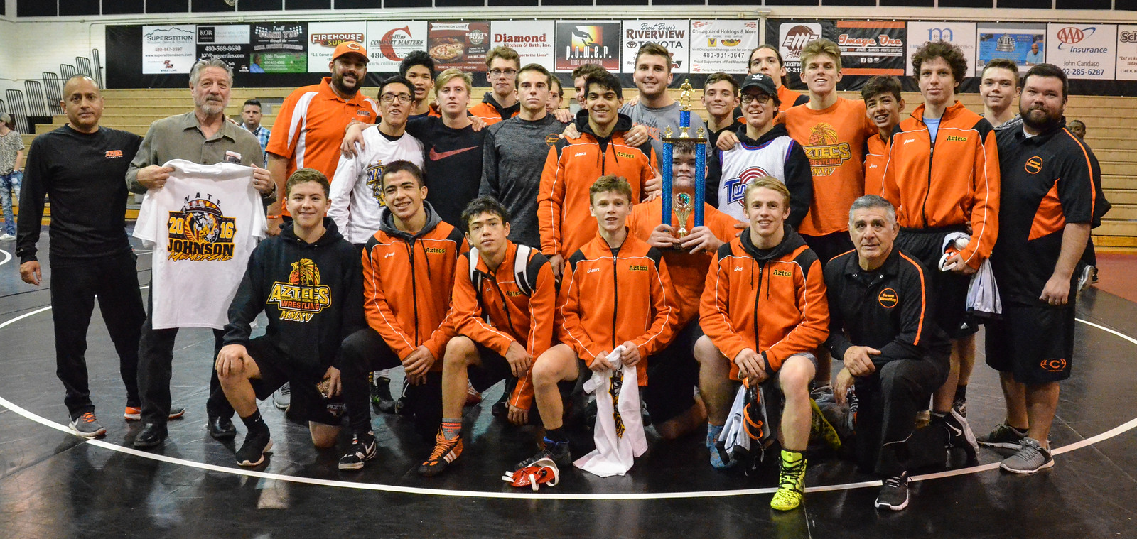 Aztec wrestling team starts season strong with four returning members.