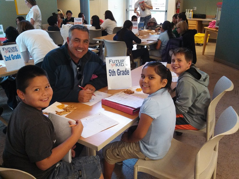 Mentor Chris Rossi with some young proteges in the Future for Kids program.