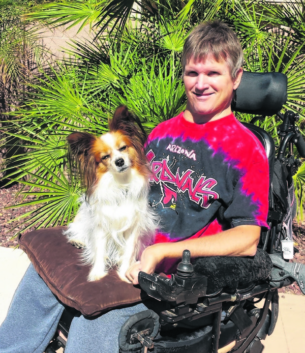 Greg Wickenburg and his faithful companion, Roo, are hoping for a new set of wheels.
