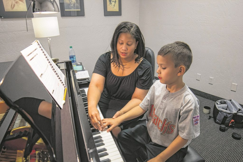 Hands-on instruction is the key to the school-based curriculum that sets Hovland Conservatory apart. (News Photo Alex J. Walker)