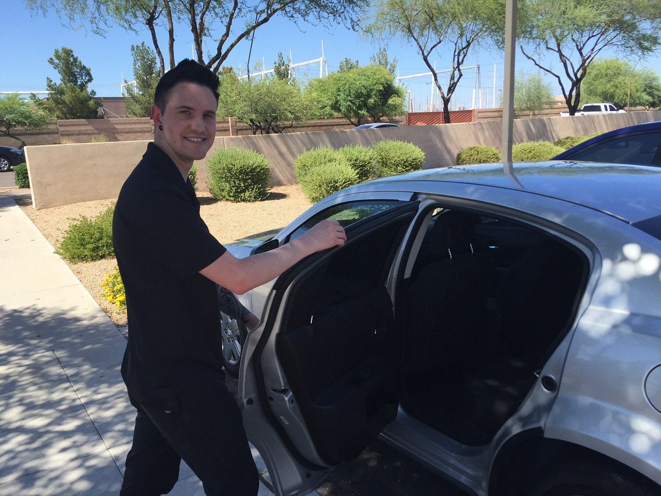 Dan Davis says he opened the door to a potential money-making enterprise during his two week stint as a driver for the ride-sharing company Lyft.  (Wrangler News photo)