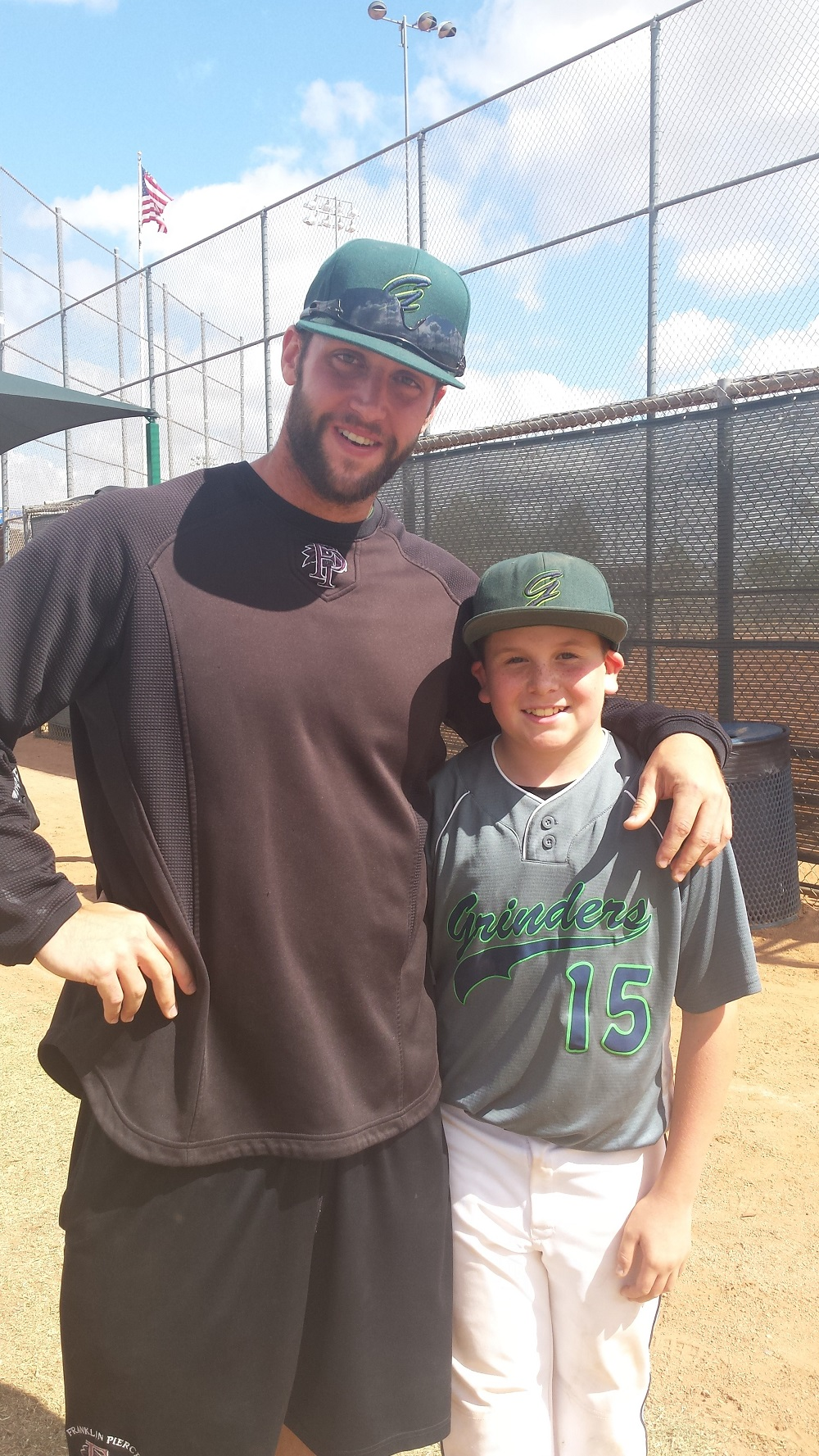 Coach Isaac Wenrich with Nathan Boyer