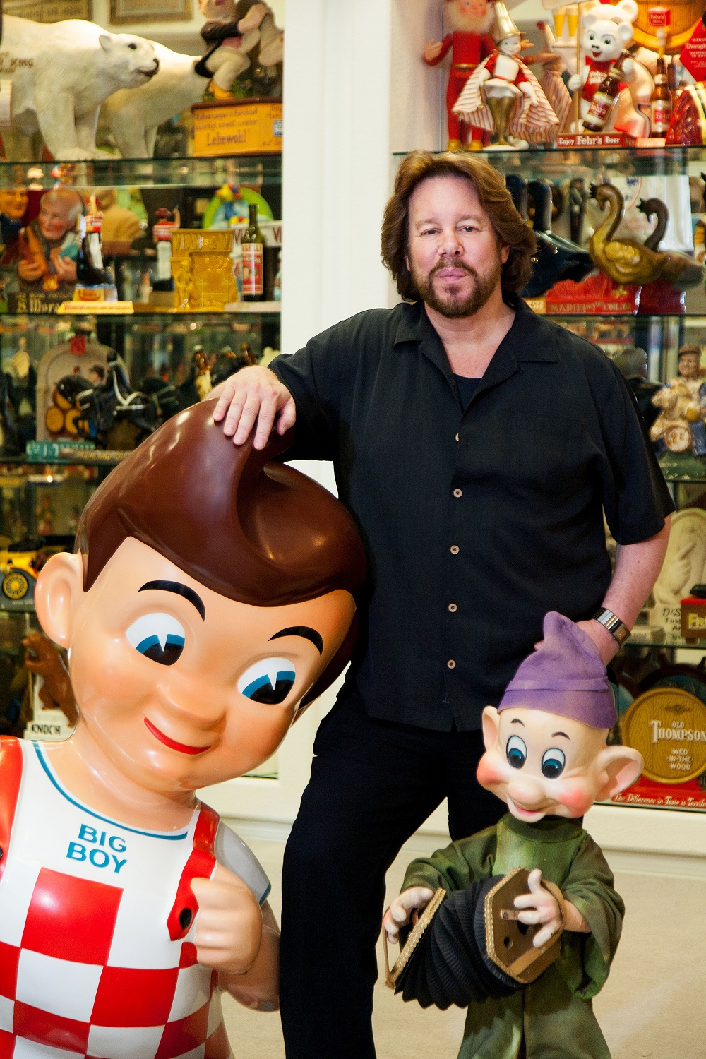 Entrepreneur Michael Pollack pays tribute to one of his many passions in his corporate offices, which overflow with memorabilia.