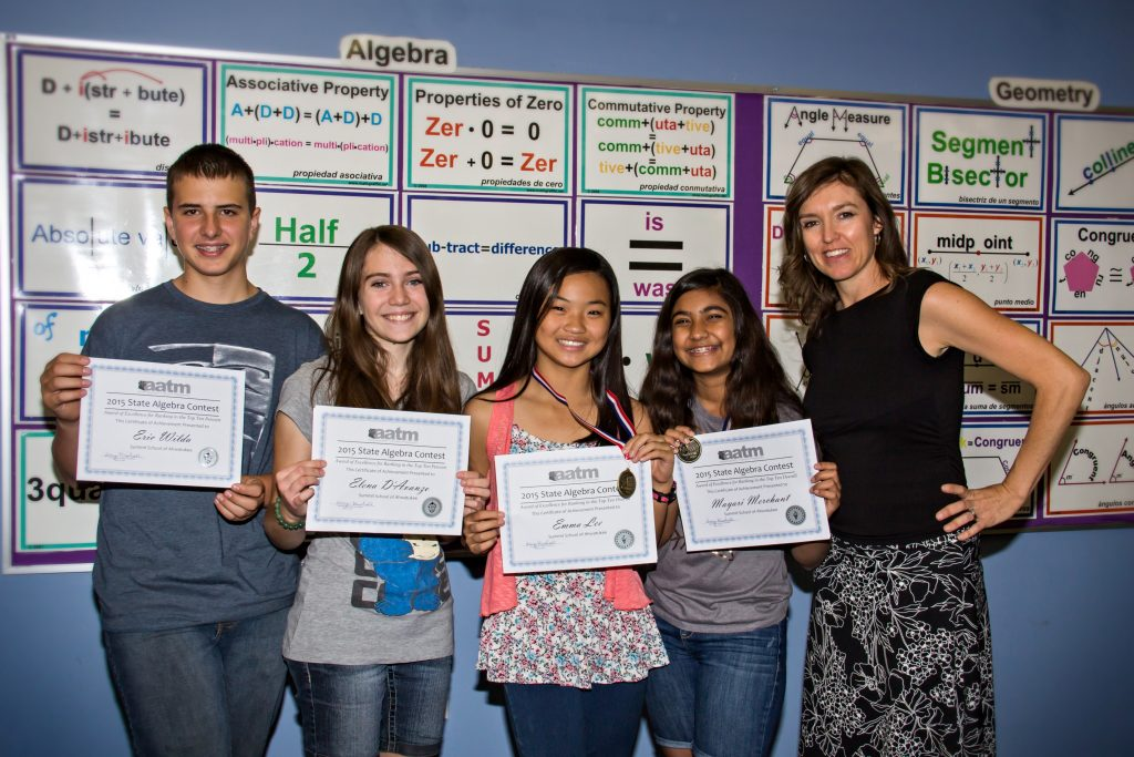 Pictured: Left to right: Eric Wilda, Elena, D'Avanzo, Emma Lee, Mayari Merchant, teacher Christy Menard