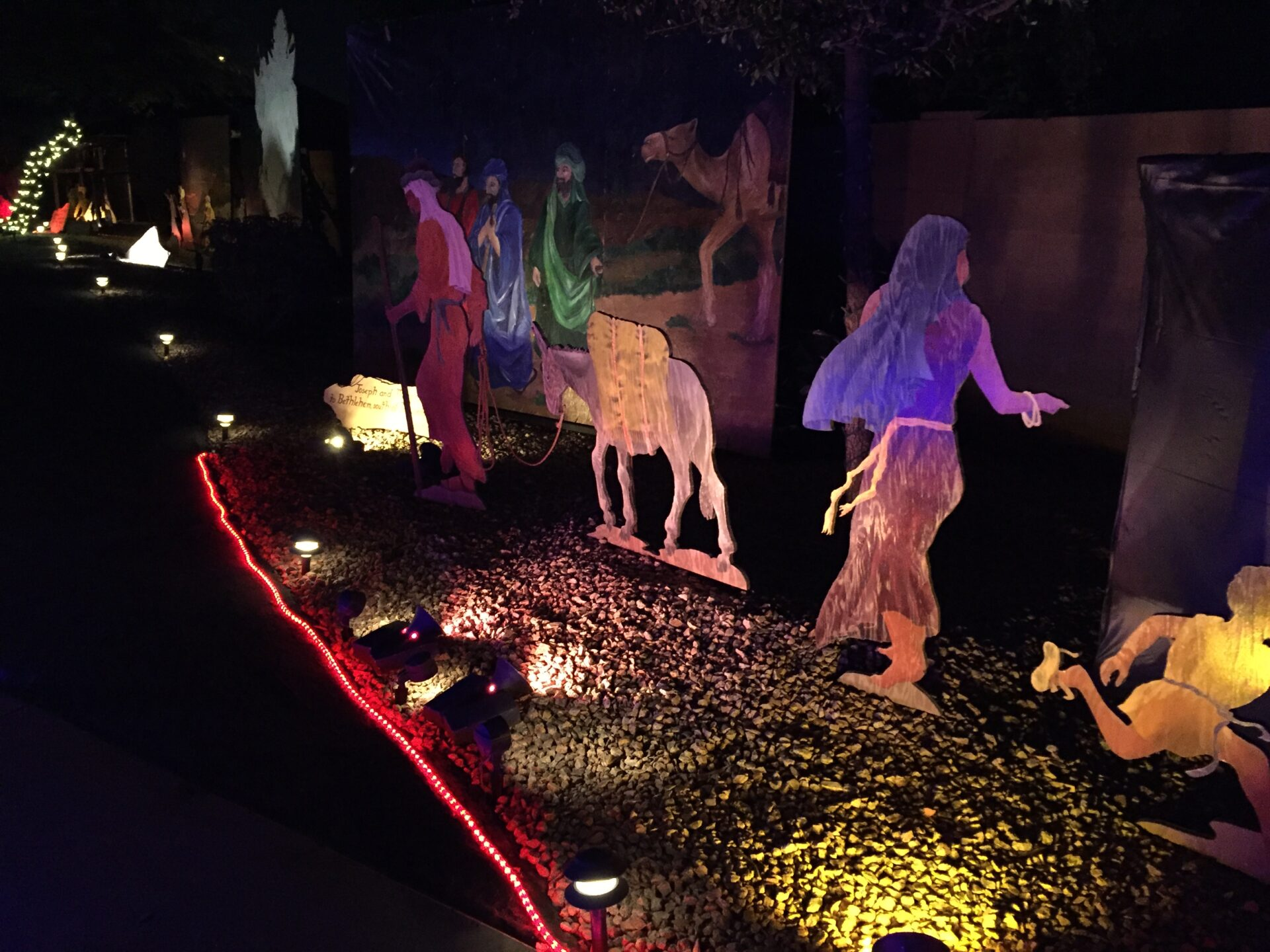 Pastor Roger Ball of First Baptist Church of Tempe, along with dozens of volunteers, has transformed his backyard into a 'Walk to Bethlehem.'