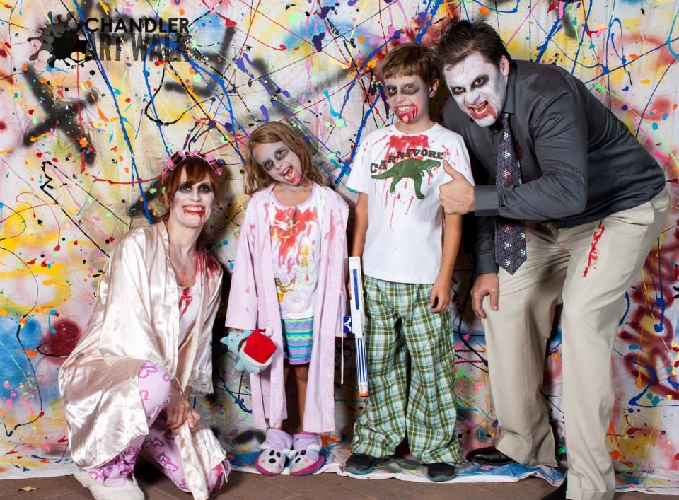 Guests at last year's Chandler Art Walk couldn't ignore the opportunity to scare up a bit of creepy memorabilia in the form of a hauntingly entertaining family photo.