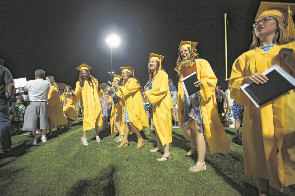 Corona del High School, in a Wrangler News photo from last year, celebrated graduation for its Class of 2015.The names of graduates of both Marcos de Niza High School and Corona del Sol High Schools Class of 2016 are listed here.