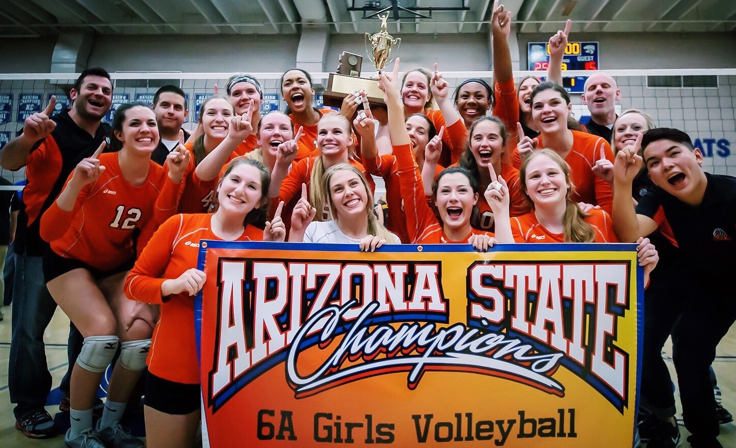Corona's girls volleyball team has won the Division 6A state championship.