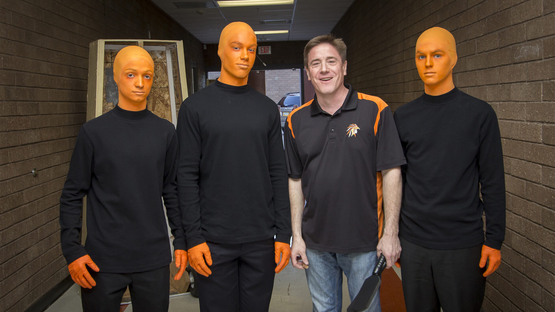 'Orangemen' peel a slice of inspiration from Blue Man Group