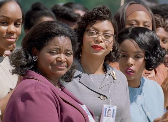 """Octavia Spencer, Taraji P. Henson, Janelle Monae, from left, shine in """"Hidden Figures."""""""