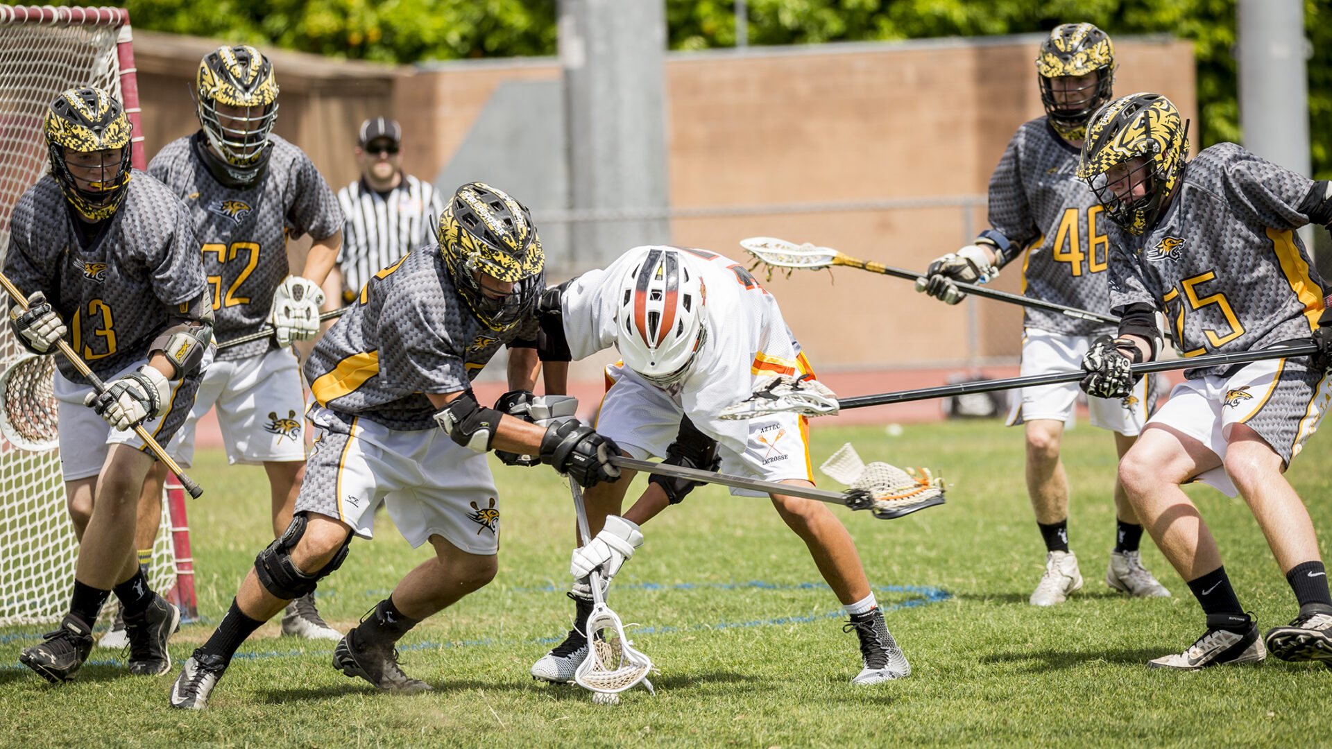 Corona lacrosse competed against Gilbert High in a home contest.