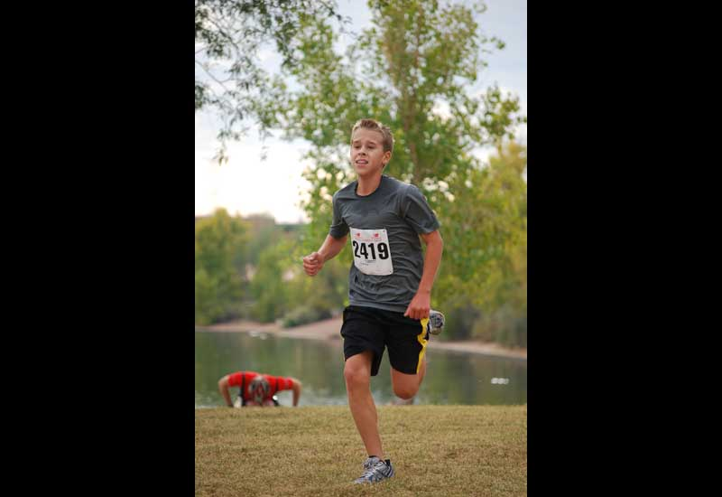 8th grader aims high after win in distance marathon