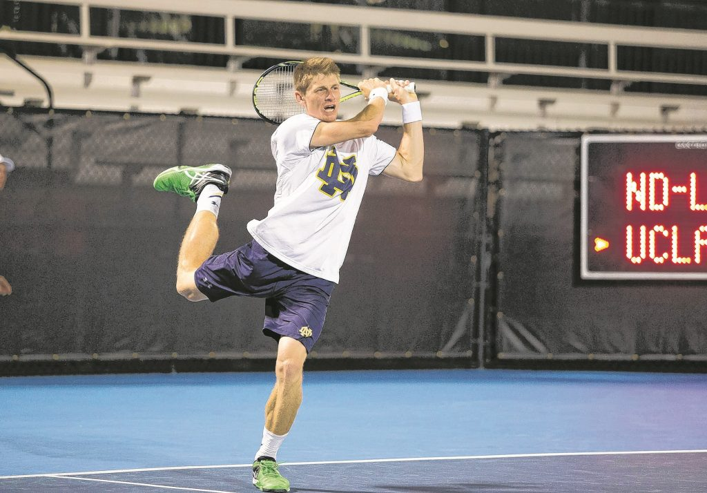 Alex Lawson: 19th All-American tennis player in Notre Dame's history at Tulsa match.