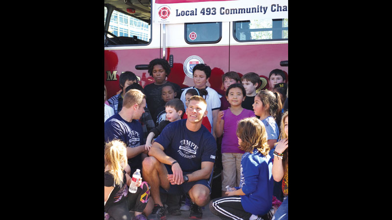 Kids blazing a trail to fitness, thanks to Tempe firefighters