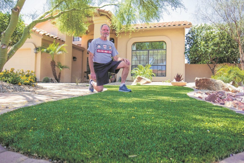 Bob Wolfe is fighting HOA for his own and two Warner Ranch neighbors' right to plant synthetic grass.